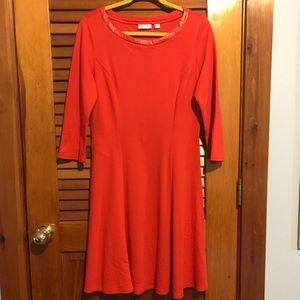 New York & Company Bright Orange Dress